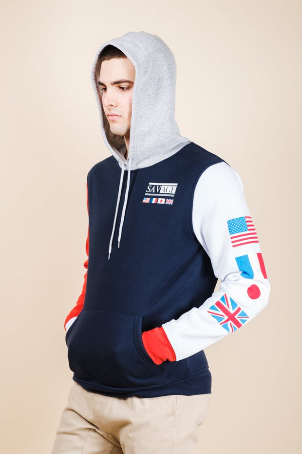 Brooklyn Cloth Savage Color Block Hoodie