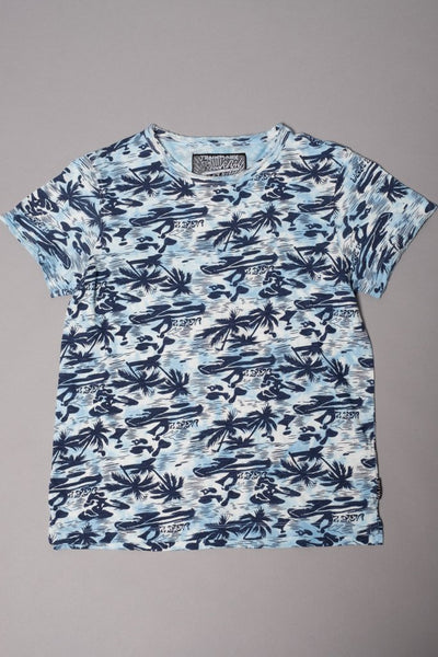 Boys' Light Blue Hawaiian Graphic Tee