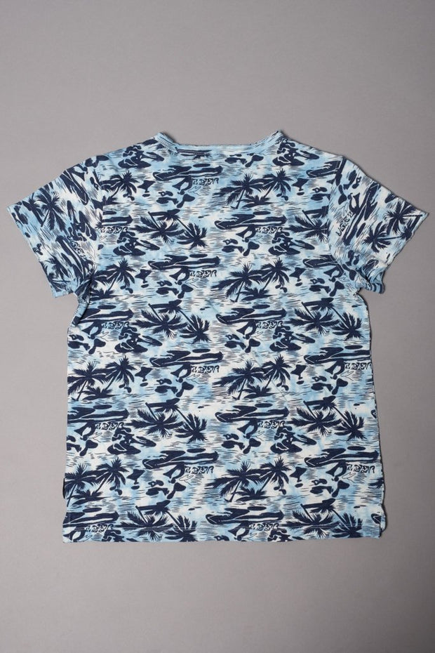 Brooklyn Cloth Boys Blue Palm Tree T-shirt