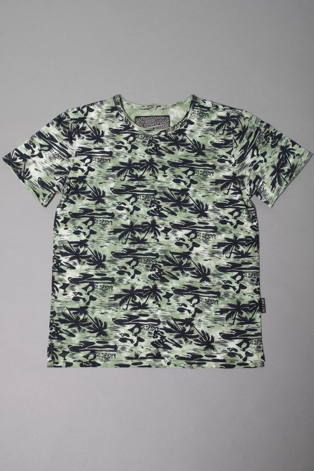 Boys' Green Hawaiian Graphic Tee
