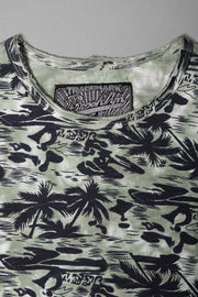 Boys Green Hawaiian Graphic Tee