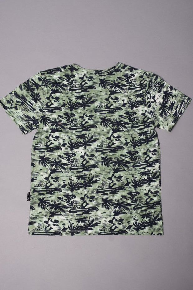 Boys' Green Hawaiian Graphic Tee at Brooklyn Cloth