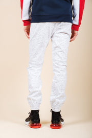 Brooklyn Cloth Men's White Printed Space Dye Jogger Pants
