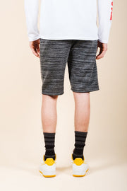 Black Space Dye French Terry Jogger Short