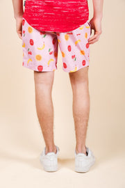 Men's Fruit Print Swim Trunks