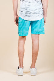 Brooklyn Cloth Blue Streaky Swim Trunks for Men