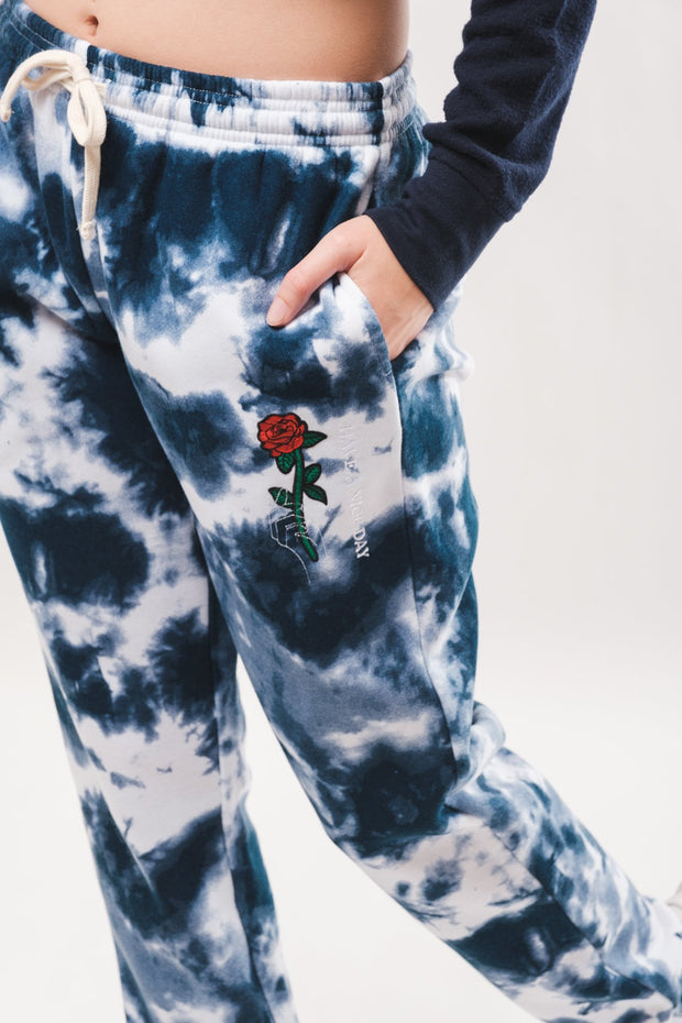 Women's Indigo Tie Dye Sweatpants