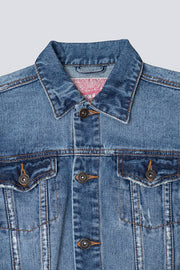 Brooklyn Cloth boys denim trucker jacket in blue