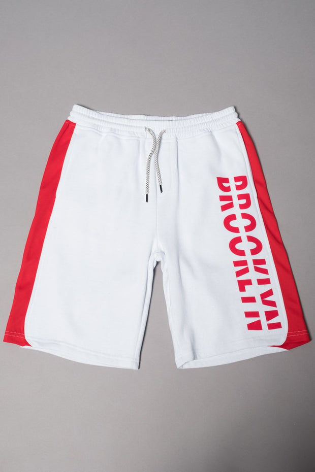 Boys' White Brooklyn Knit Shorts