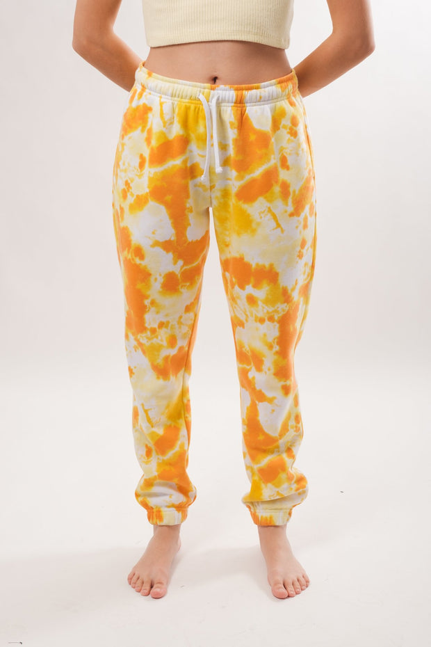 Women's Orange Tie Dye Boyfriend Jogger