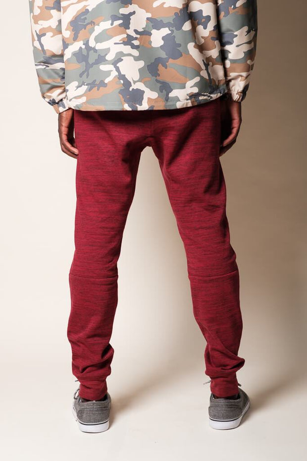 Brooklyn Cloth Maroon Knit Space Dye Jogger Pants