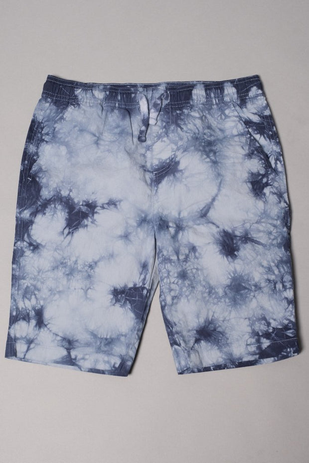 Boys' Navy Tie Dye Poplin Shorts at Brooklyn Cloth