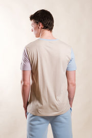 Sand Color Block Tee