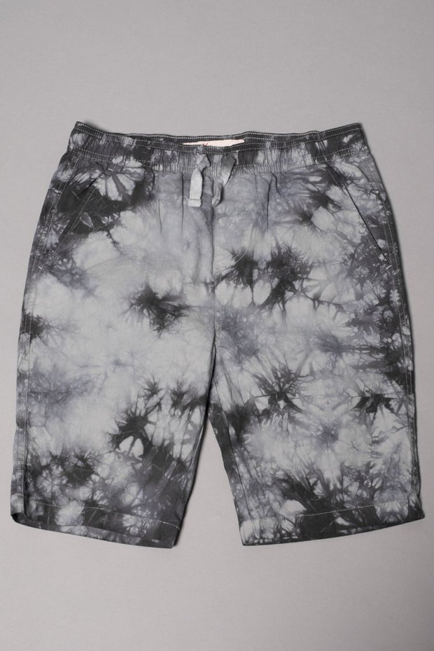 Boys' Charcoal Grey Tie Dye Poplin Shorts