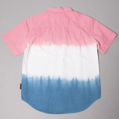Boys Red White and Blue Tie Dye Shirt at Brooklyn Cloth