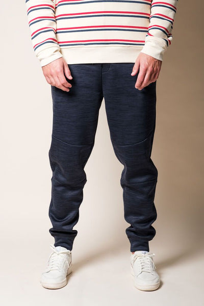 Navy Polyester Jogger Pants