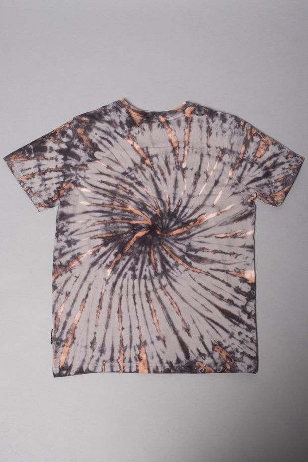 Boys Black Spiral Tie Dye T-Shirt at Brooklyn Cloth
