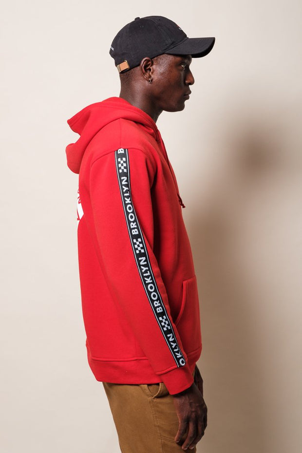 Red Brooklyn Street wear Hoodie