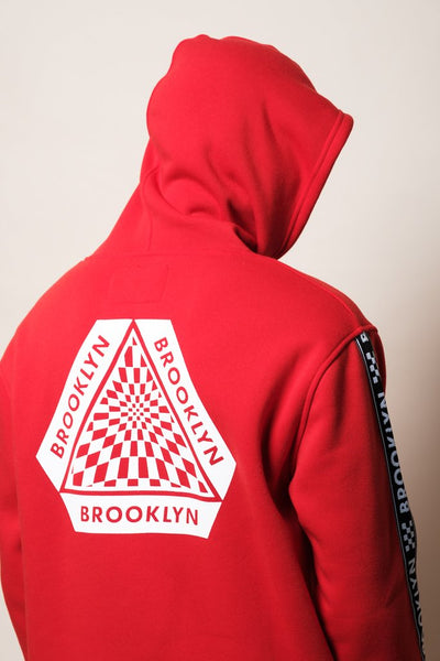 Red Brooklyn Street wear Hoodie for Men
