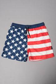 Boys American Flag Swim Trunks