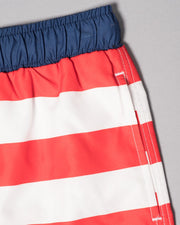 Boys American Flag Split Volley Shorts