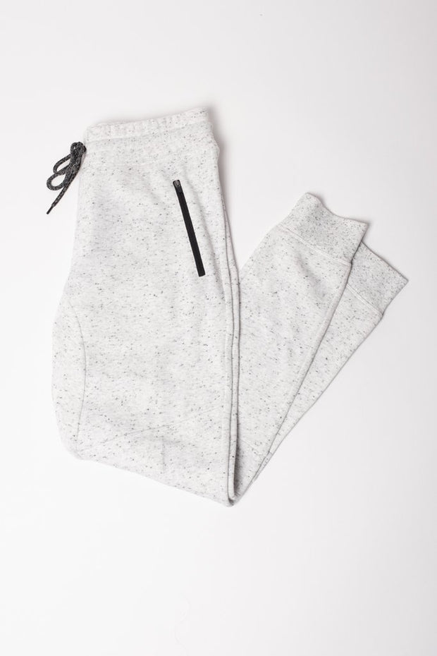 Natural Snow Fleece Jogger Pants