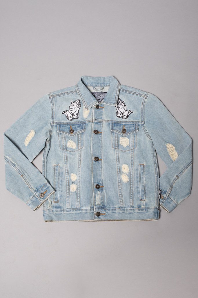 Boys' Blessed Embroidered Denim Jacket