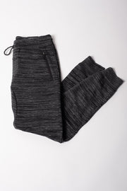 Black Space Dye Fleece Jogger Pants