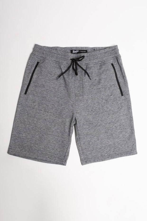 Black Marl Zip Pocket Knit Shorts