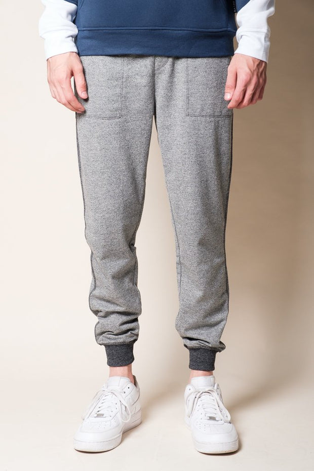 Black Marl French Terry Jogger Pants