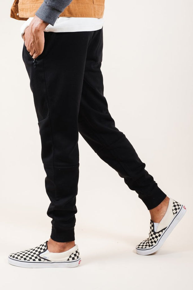 Black Knit Jogger Pants 2.0 for Men