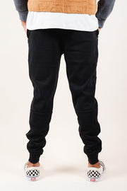 Brooklyn Cloth Black Knit Jogger Pants 2.0 for Men