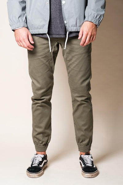 Olive Green Twill Men's Jogger