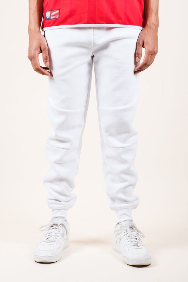 White Knit Jogger Pants 2.0