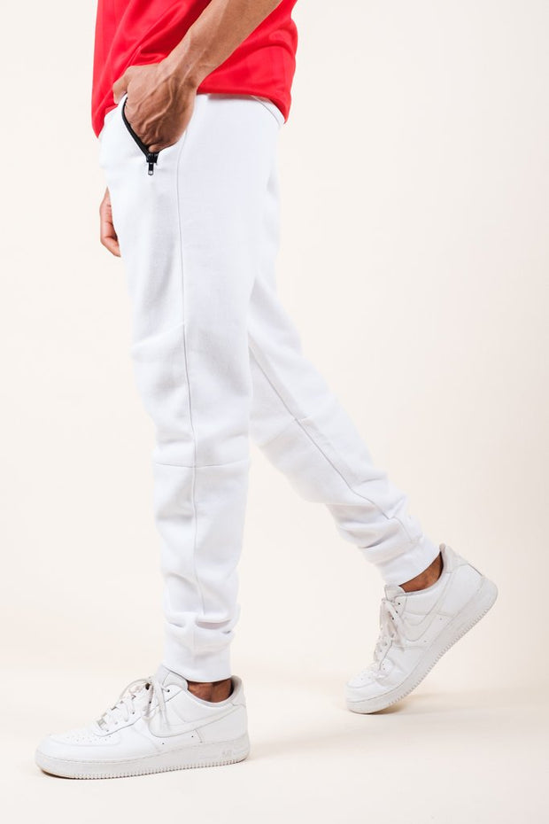White Knit Jogger Pants 2.0 for Men