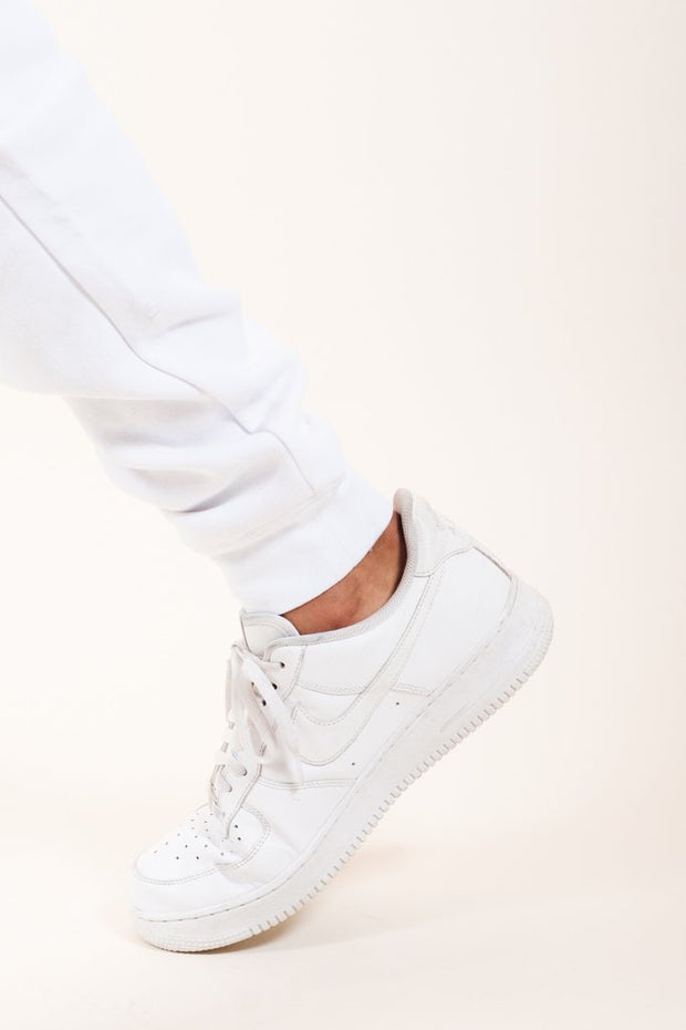 Brooklyn Cloth White Knit Jogger Pants 2.0