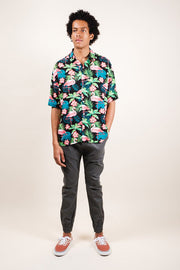 Brooklyn Cloth Flamingo Print Woven Shirt for Men