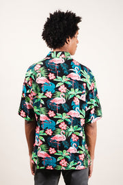 Brooklyn Cloth Flamingo Print Woven Shirt