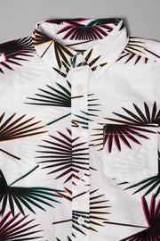 Boys Palm Tree Woven Shirt