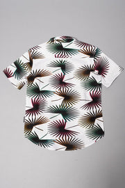 Boys' Neon Palm Tree Woven Shirt