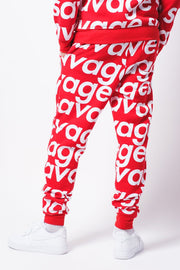 Red Savage Repeat Fleece Jogger Pants