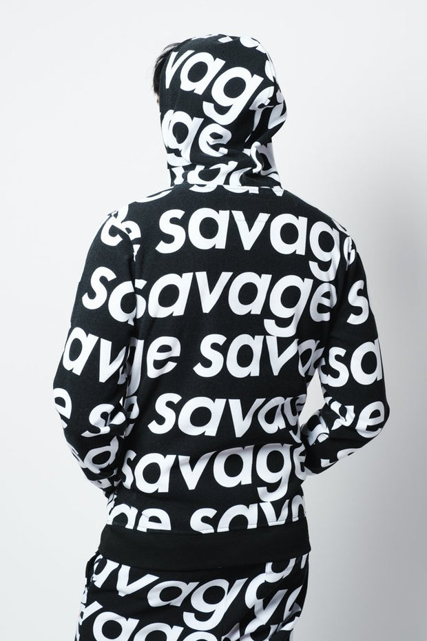 Black Savage Repeat Hoodie