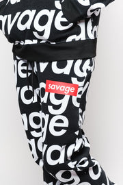 Black Savage Repeat Fleece Jogger Pants