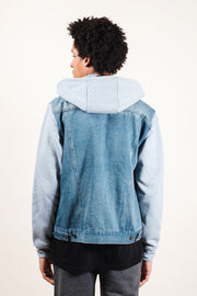 Brooklyn Cloth Heather Grey Hooded Denim Jacket