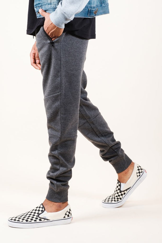 Charcoal Grey Knit Jogger Pants 2.0