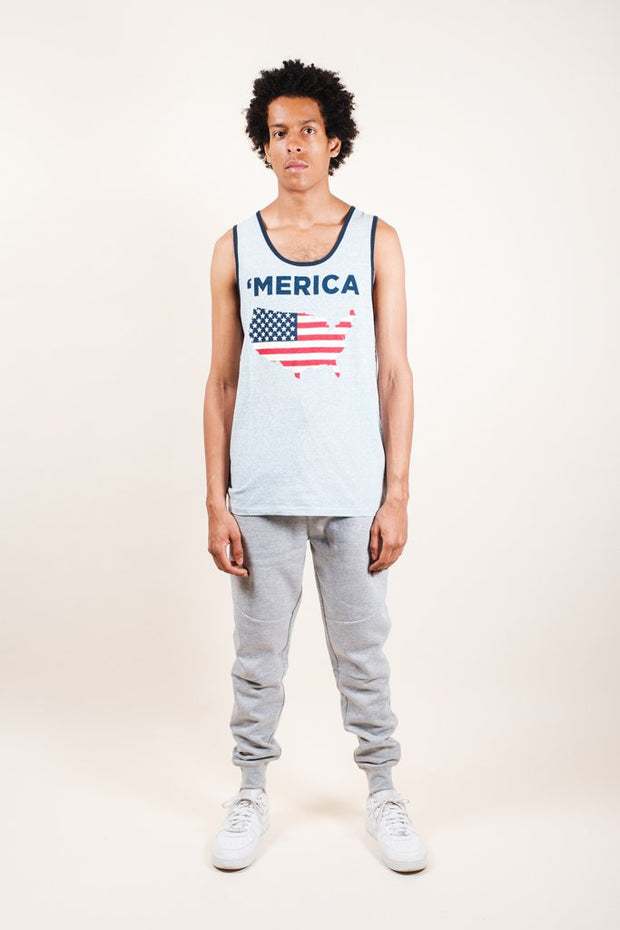 Brooklyn Cloth Blue Merica Tank Top for Men