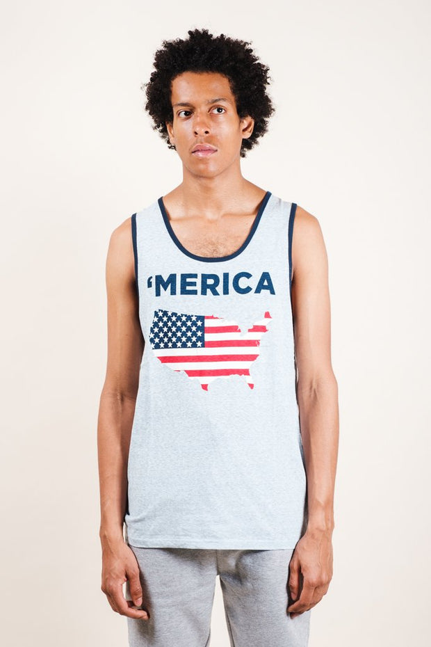 Blue Merica Tank Top for Men