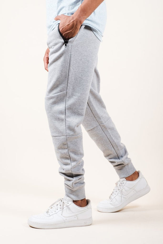 Heather Grey Knit Jogger Pants 2.0
