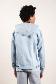 Brooklyn Cloth Light Wash Hooded Denim Jacket