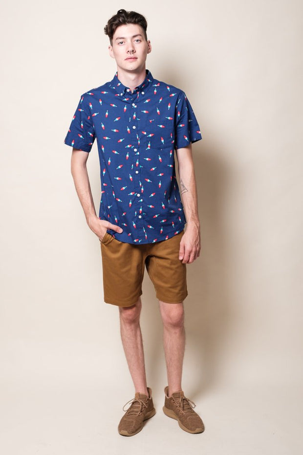Brooklyn Cloth Navy Popsicle Woven Shirt for Men
